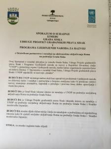 Sporazum o suradnji Grada Siska, PGP-a Sisak i UNDP-a
