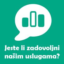Jeste li zadovoljni našim uslugama?